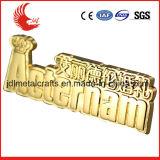 Qualitäts-Gold überzogener weicher Decklack-Namensabzeichen-Basisrecheneinheits-Hut