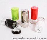 4PCS de Kruik van het glas met Roestvrije die Vlek met Deksel wordt geplaatst