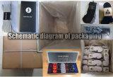Frauen-Qualitäts-Knie-hohe Kamm-Baumwollsocke (UBW-001)