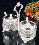 壮大な銀はセットされた香辛料をめっきした(MG72412-1)