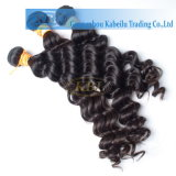 3AAA cabelo humano profundo indiano da onda 100%
