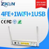동축 케이블 트리플 플레이 통신망을%s 새로운 FTTH 광섬유 4fe+WiFi+USB+CATV Eoc 노예같은 Zc-Ect14wv