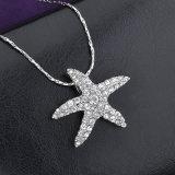 5つの星の吊り下げ式の衣服のアクセサリの方法合金のラインストーンのネックレス