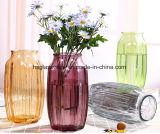 Vaso domestico multicolore Octagonal di vetro della decorazione