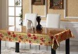 A forma quadrada gravou o Tablecloth impresso PVC para a HOME/partido/hotel
