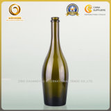 Зеленая бутылка вина, бутылка 750ml Шампань стеклянная (1118)