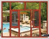 Spätester Entwurf preiswertes Metel Doppelverglasung-Aluminiumflügelfenster-Fenster