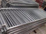Barriera di controllo di folla di concerto dell'alluminio di formato standard 2.0*1.1m/barriera d'argento galvanizzata di controllo di folla