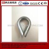Cosse de câble métallique de Galvanied d'acier du carbone