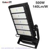 El rendimiento de alta área de proyectores LED 500W, la amplia gama de tensión de entrada 120V-277V o 200-480V AC de alta iluminación LED del mástil
