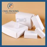 Branco cosmético da planície da caixa do cartão
