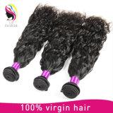 加工されていない毛のモンゴルの人間のRemyの自然な波の拡張
