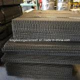 Aço de alto carbono entre a tela de malha de arame cravada