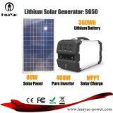Bateria de lítio de 400 W Gerador de Energia Solar da Estação de Energia Portátil com painel solar