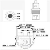 Metallhaube Toslink Audios-Kabel