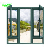 Único Panel de revestimiento de aluminio vidrio esmerilado puerta de madera