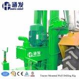 Tipo de Tractor portátil pequeña plataforma de perforación de pozos de agua para la venta (HF100T)