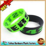Bracelete enchido do silicone de Debossed da alta qualidade cor especial (TH-08853)