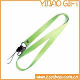주문 로고 (YB-l-014)를 가진 녹색 나일론 목 방아끈 또는 방아끈