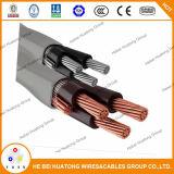 Kabel SE-Seu Ser mit UL-Bescheinigungs-Kupfer, Aluminium, Service-Eingangs-Kabel des AA-8000 schreiben Leiter-XLPE der Isolierungs-6-6-6-6