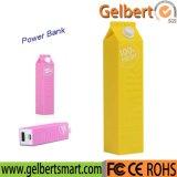 RoHSの熱い販売2600mAhミルクびん李イオン電池の携帯用充電器力バンク