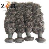 Перуанской человеческого волоса Weft Черный необработанные Virgin волос