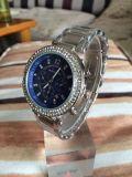 Calendario del diamante del reloj de moda Lady