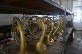 L'ottone chiave del doppio oro del corno francese 4 gradice Alexander503