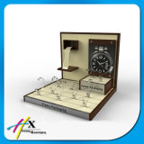 Fashion Leather & Wood Board Small Size Wrist Watch Display Tray
