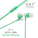 El mejor sonido micrófono estéreo de diseño de logotipo de OEM auriculares intrauditivos
