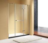 """Pièce jointe coulissante simple en verre claire de douche de cabine de salle de bains avec 55~71 """" largeurs"""