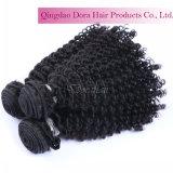 Des cheveux bouclés bon marché de gros de Tissage de cheveux brésiliens non traités