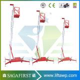 plataforma de trabajo de aluminio de elevación de la elevación de la altura de los 8m