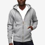 Vlies Hoody der Männer Baumwollziehen Hoodie kundenspezifisches Firmenzeichen Hoodie hoch