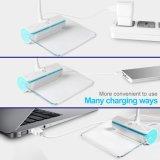 Foros Brillo Ajustable Flexible Sensor táctil USB LED recargable de cuello de cisne de la luz de la lectura de la lámpara de escritorio