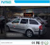 3G WiFi GPS que hace publicidad de la pantalla de visualización de LED de la tapa del taxi de la pantalla