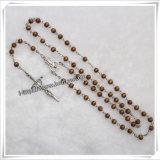 マルチカラープラスチックビードの宗教数珠(IOcr319)
