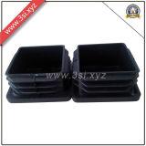 Garnitures intérieures carrées en plastique de pipe de meubles pour les pattes de bureau (YZF-H128)