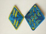 Kundenspezifisches Entwurfs-Laser-Schnitt-Rand gesponnenes Abzeichen