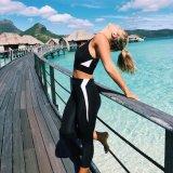 Schwarzes Sportwear Yoga keucht Gamaschen (3031)