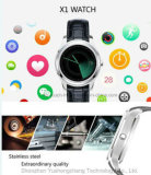 téléphone mobile intelligent androïde de la montre 3gwifi avec la fréquence cardiaque X1