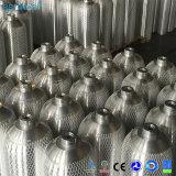 Cilindro de oxígeno de aluminio del tanque del equipo de submarinismo del buceo con escafandra del PUNTO 200bar 3000psi