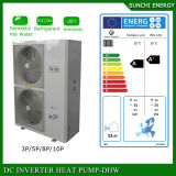 Amb. A água quente Home de sistema de aquecimento 12kw/19kw/35kw do assoalho do inverno de -25c R407c 55c Monobloc Auto-Degela Evi de baixa temperatura. Bomba de calor