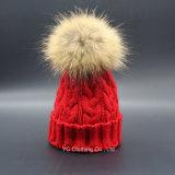 Chapéu de lã por atacado do inverno dos Pompoms