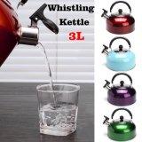 3L'eau de sifflement bouilloire sifflet acier inoxydable cuisinière induction épaissir café thé bouilloire pour le voyage de camping bouteille d'eau