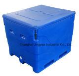 Rotomold haute résistance Conteneur de poisson frais et congelé Poisson boîte de refroidisseur