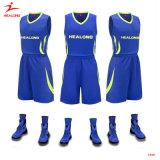 あなた自身のバスケットボールのユニフォームのワイシャツによってカスタマイズされる昇華バスケットボールジャージーを作りなさい