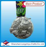 نمو تصميم زنك سبيكة علامة تجاريّة شكل رياضة مكافأة معدن وسام