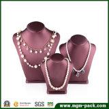 Luxury PU busto de couro jóias Exibir