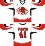 Usure faite sur commande de sport de Jersey d'hockey de sublimation de chemise